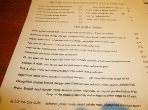 Fish & chips, gongs beer battered haddock, triple cooked chips & mushy peas £11.00