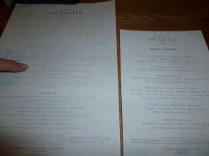 We were presented with 2 menus.