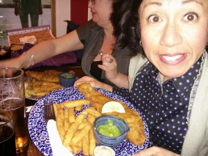 Fish and chips in Wetherspoons