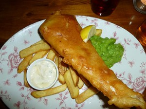 The Bear and Staff in Leicester Square London - Fish & Chips